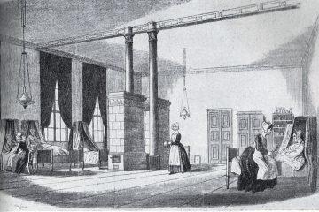 Krankensaal im Bethanien kurz nach der Fertigstellung. Foto: Sammlung Horb