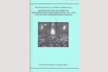 Cover Biographisches Handbuch der Berliner Abgeordneten 1963-1995