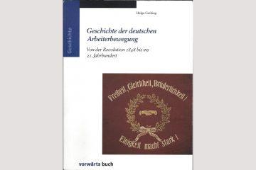 """Cover """"Geschichte der deutschen Arbeiterbewegung"""" von Helga Grebing."""