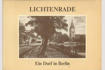"""Cover """"Lichtenrade - Ein Dorf in Berlin"""" aus dem Jahr 1983"""