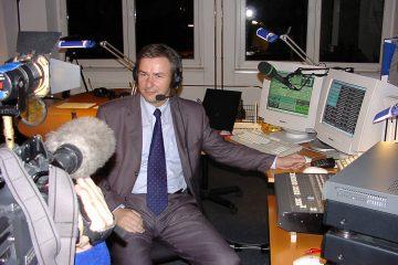 Start von Radio Wowereit, einem Internetradio im Berliner Wahlkampf 2001. Foto: Ulrich Horb
