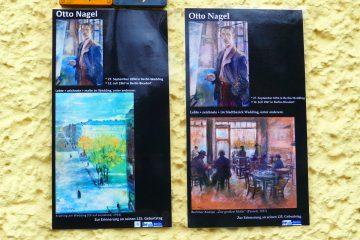 Erinnerungstafeln an den Berliner Künstler Otto Nagel