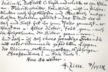 Nagel-Würdigung von Heinrich Zille.