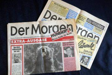 """""""Der Morgen"""", in der DDR die Zeitung der Liberaldemokratischen Partei. Foto: Ulrich Horb"""