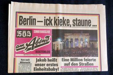 """Die 1949 gegründete """"BZ am Abend"""" wurde 1990 zum """"Berliner Kurier"""". Foto: Ulrich Horb"""